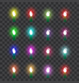 set of colored neon glass lamps in retro style vector image