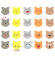 Set of emotions cat vector image vector image