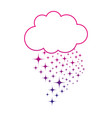silhouette cloud with bright stars design in the vector image vector image