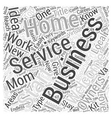 Start your own Welcome Service Word Cloud Concept vector image vector image