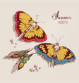 summer holidays card beautiful butterflies on the vector image