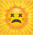 sun icon isolated with yellow burst background vector image vector image