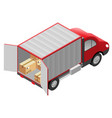 transport services delivery of goods cardboard vector image vector image