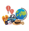 travel elements and item vector image