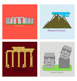 travel journey concept famous monuments of world vector image vector image
