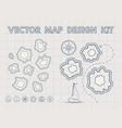 vintage treasure map generator vector image