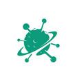virus symbol logo design vector image