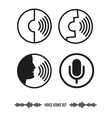 voice recognition icons set biometrics vector image vector image