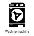 washer icon simple black style vector image vector image