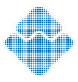 waves currency halftone icon vector image vector image