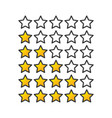 yellow or gold gradient star raiting icons giving vector image