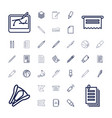 37 pen icons vector image vector image