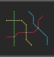 abstract metro scheme a fictional city a guide vector image