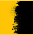 abstract yellow and black grunge dirty texture vector image vector image