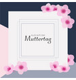 alles gute zum muttertag is happy mothers day in vector image vector image