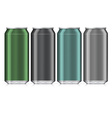 Aluminum Beverage Drink Can Isolated Mock Up vector image vector image