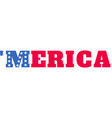 america on white background vector image vector image