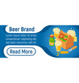 beer brand concept banner isometric style vector image