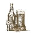 Beer Hand Draw Sketch vector image vector image