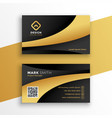 black and gold modern business card template vector image vector image