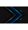 blue light glossy lines texture arrow black vector image
