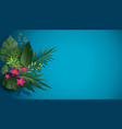 blue tropic nature vector image vector image