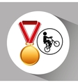 bmx cyclist medal sport extreme graphic vector image vector image