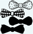 Bow tie mens clothing assortment vector image