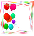 bright frame with balloons vector image vector image