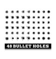 bullet holes on white vector image vector image