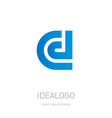 c d initial logo c and d initial monogram vector image vector image