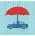 car under umbrella vector image