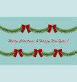 card garland for christmas vector image vector image