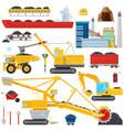 coal mining industrial equipment vector image
