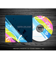 colorful cd cover design vector image vector image