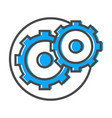 data stream icon with gear sign vector image