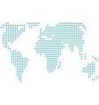 dotted world map icon silhouette on white vector image