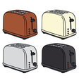 Electric toasters vector image