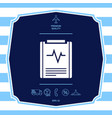 electrocardiogram symbol icon graphic elements vector image