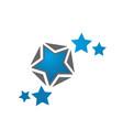 excellence top rank 5 five star logo design vector image vector image