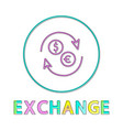 exchange round linear icon for online commerce vector image vector image