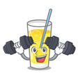 fitness lemonade character cartoon style vector image