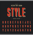 font and alphabet style tall typeface letter vector image
