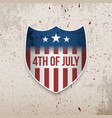 fourth of july united states greeting banner vector image vector image