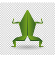 frog origami abstract isolated on a white vector image