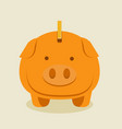 gold piggybank cartoon vector image