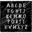Grungy scribble font vector image