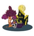 halloween cute cartoons vector image