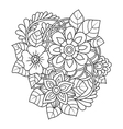 Hand drawn design element Doodle art flowers vector image vector image
