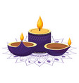 indian candles decoration vector image vector image
